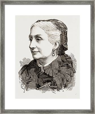 The Late Duchess Of Montpensier Framed Print by Litz Collection