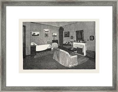 The Late Duke Of Albany The Bedroom In Which The Duke Died Framed Print