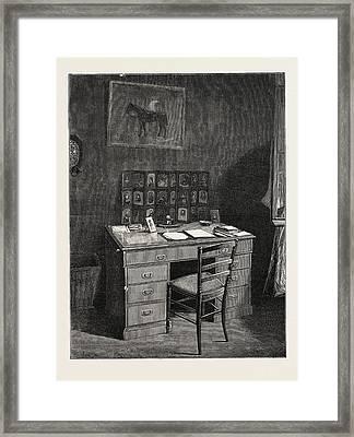 The Late Duke Of Albany The Dukes Study In The Villa Nevada Framed Print