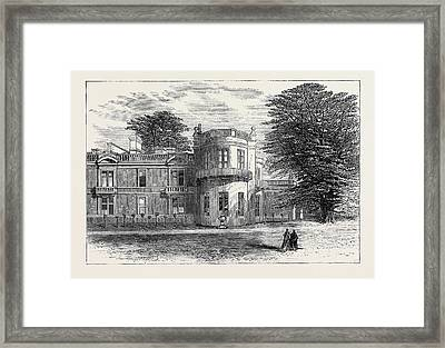 The Late Emperor Napoleon IIi Camden Place Exterior View Framed Print by English School