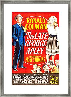 The Late George Apley, Us Poster Framed Print by Everett