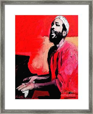The Late Great Marvin Gaye Framed Print
