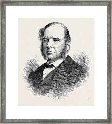 The Late Hon. J.p Framed Print by English School