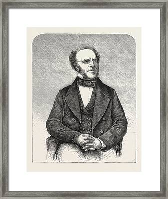 The Late Right Hon Framed Print
