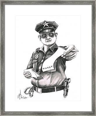 The Law Framed Print by Murphy Elliott
