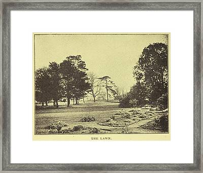 The Lawn Of Down House Framed Print