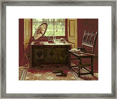 The Lawn Tennis Season, 1881 Framed Print by Mary Hayllar