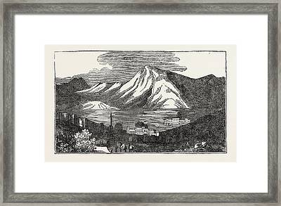 The Lea Of Tiberias, A City On The Western Shore Of The Sea Framed Print by Israeli School