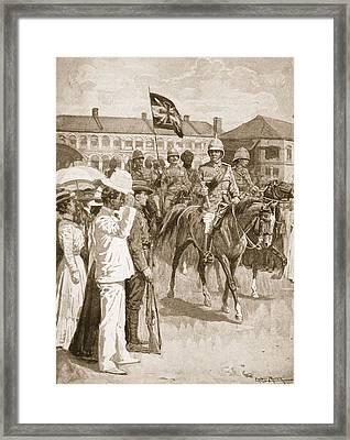 The Leader Of The Allies, Illustration Framed Print