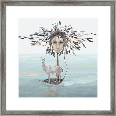 The Leaf Boatman Framed Print by Catherine Swenson