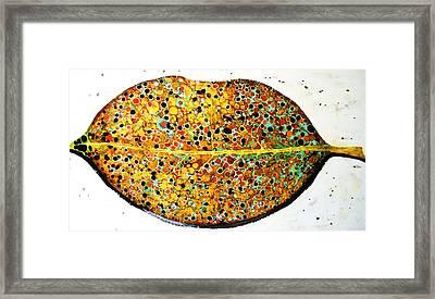 The Leaf Framed Print by Emil Bodourov