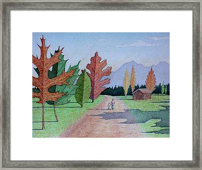The Leaf Trees Framed Print