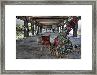 The Leaning Tower Of Milk Crates Framed Print