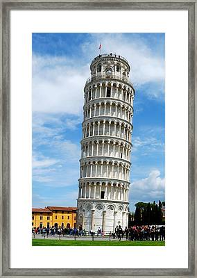 The Leaning Tower Of Pisa Framed Print by Gianfranco Weiss