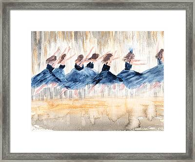 The Leap Framed Print by Peggy Bosse