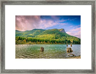 The Ledge Above The Lake Framed Print by Brian Xavier