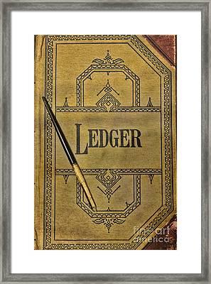 The Ledger Framed Print by Paul Ward