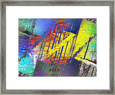 The Ledges Three Cubed Framed Print