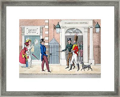 The Leech, Illustration Framed Print by Daniel Thomas Egerton