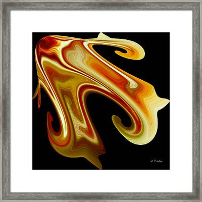 Framed Print featuring the digital art The Left Corner by rd Erickson