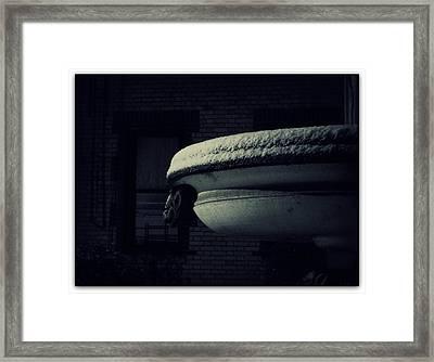 The Left Gargoyle Framed Print by Jhoy E Meade