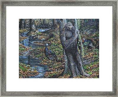 The Legend Of Gobble Creek Framed Print by Michael Wawrzyniec
