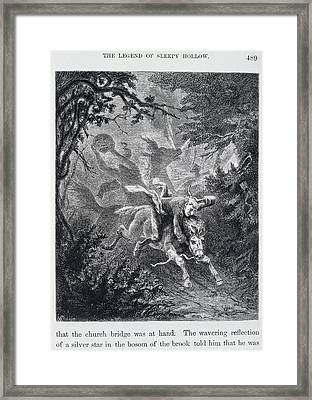 The Legend Of Sleepy Hollow Framed Print by British Library
