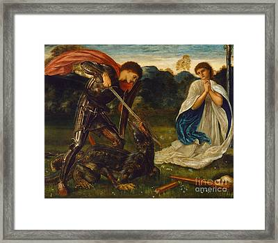 The Legend Of St George And The Dragon Framed Print