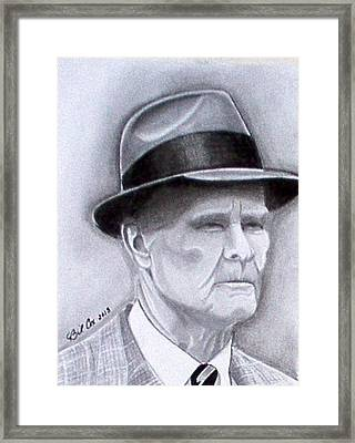 The Legend Tom Landry Framed Print by William Cox