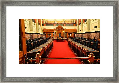 The Legislature Victoria Bc Framed Print