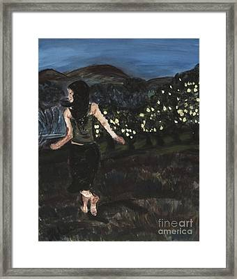 The Lemon Tree Field Framed Print by Helena Bebirian