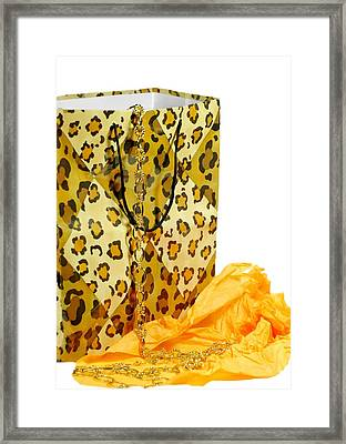 The Leopard Gift Bag Framed Print by Diana Angstadt