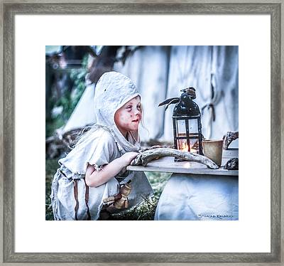 The Leprosy Child And The Healing Lantern Framed Print by Stwayne Keubrick