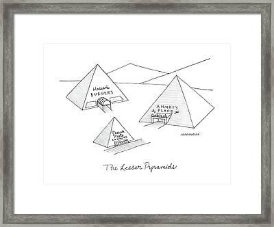 The Lesser Pyramids Framed Print