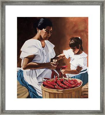 The Lesson Framed Print by Jack Atkins