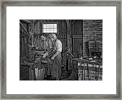 The Lesson Monochrome Framed Print by Steve Harrington