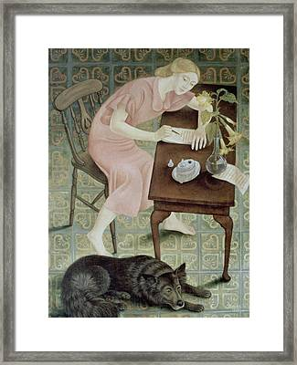 The Letter, 1993 Framed Print by Patricia O'Brien