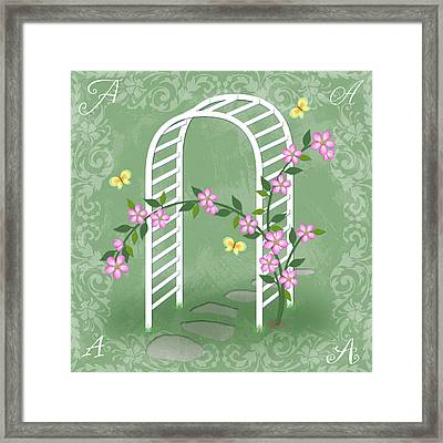 The Letter A For Arbor Framed Print