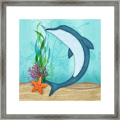 The Letter D For Dolphin Framed Print