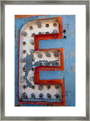 The Letter E Framed Print by Art Block Collections