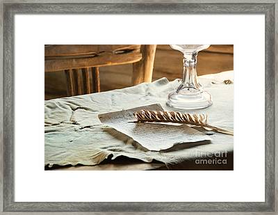 The Letter Framed Print by Juli Scalzi