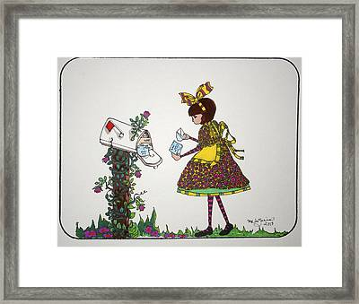 The Letter Framed Print by Mary Kay De Jesus