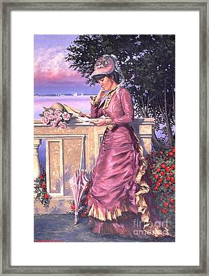 The Letter Framed Print by Michael Swanson