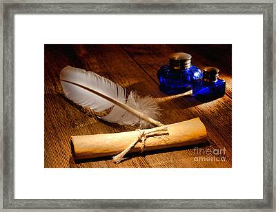 The Letter Framed Print by Olivier Le Queinec