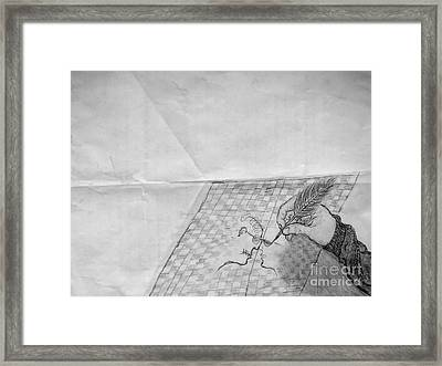 The Letter Framed Print by Thommy McCorkle