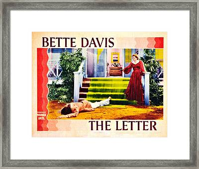 The Letter, Us Lobbycard, David Newell Framed Print by Everett