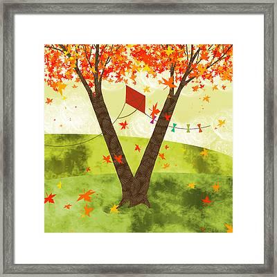 The Letter V Framed Print by Valerie Drake Lesiak