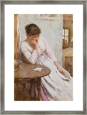 The Letter  Framed Print by Walter Langley