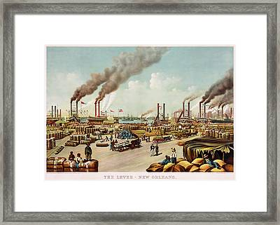 The Levee Of New Orleans Framed Print by Mountain Dreams