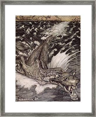 The Leviathan Framed Print by Arthur Rackham